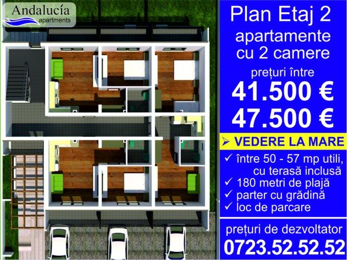 vanzare Apartament Constanta cu 2 camere, cu 1 grup sanitar, suprafata utila 44.35 mp. Pret: 47.500 euro.