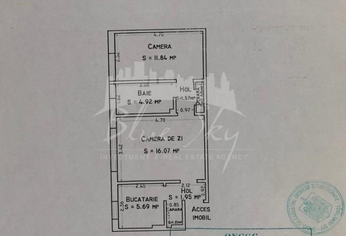 Apartament de vanzare in Constanta cu 2 camere, cu 1 grup sanitar, suprafata utila 55 mp. Pret: 51.000 euro negociabil.