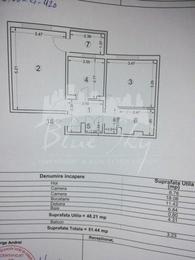 Apartament vanzare Constanta 2 camere, suprafata utila 53 mp, 1 grup sanitar. 54.000 euro negociabil. Etajul 4. Apartament Far Constanta