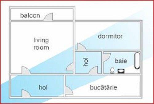 Apartament de vanzare in Constanta cu 2 camere, cu 1 grup sanitar, suprafata utila 47 mp. Pret: 53.000 euro.