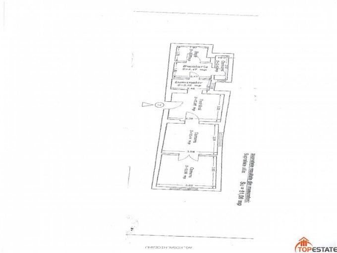 Apartament cu 2 camere de vanzare, confort 1, zona Piata Ovidiu,  Constanta