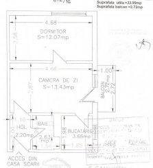 vanzare apartament semidecomandat, zona Intim, orasul Constanta, suprafata utila 35 mp
