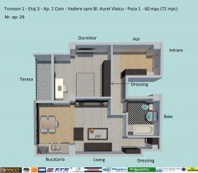 Ap - 2 cam - 72 mpc -Decomandate-Dezvoltator-Zona Campus-Lac Siutghiol