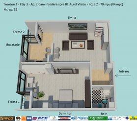 Constanta, zona Campus, apartament cu 2 camere de vanzare