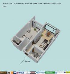 dezvoltator imobiliar vand apartament semidecomandat, in zona Campus, orasul Constanta
