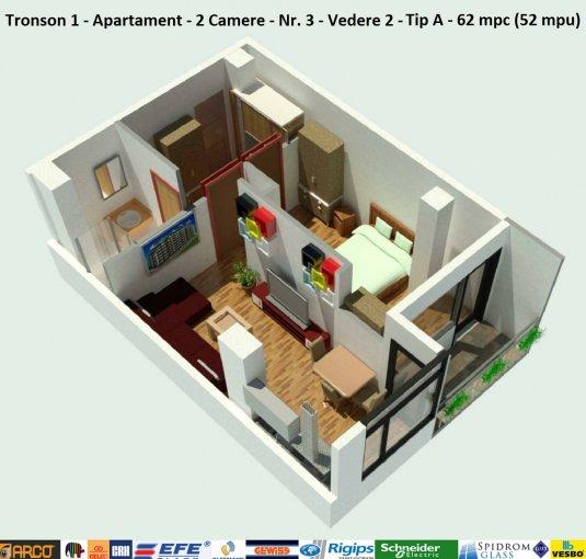 vanzare Duplex Constanta cu 2 camere, cu 1 grup sanitar, suprafata utila 52 mp. Pret: 55.000 euro. Incalzire: Centrala proprie a locuintei. Racire: Aer conditionat.