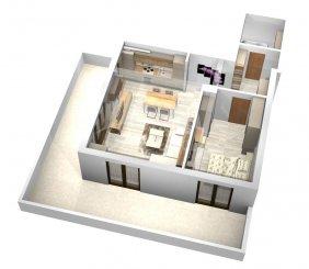 vanzare apartament decomandat, zona Mamaia Nord, orasul Constanta, suprafata utila 10889 mp