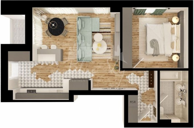 Apartament vanzare Campus cu 2 camere, etajul 1, 1 grup sanitar, cu suprafata de 747 mp. Constanta, zona Campus.