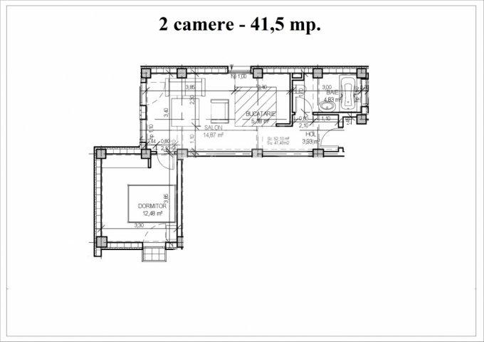 Apartament vanzare Constanta 2 camere, suprafata utila 52 mp, 1 grup sanitar. 42.000 euro. Etajul 1. Apartament Mamaia Nord Constanta