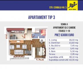 Constanta, zona Intim, apartament cu 2 camere de vanzare