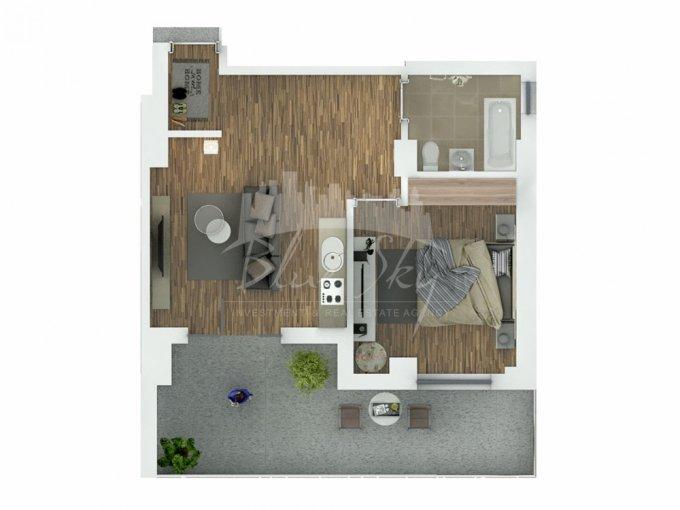 Apartament de vanzare in Constanta cu 2 camere, cu 1 grup sanitar, suprafata utila 67 mp. Pret: 65.000 euro negociabil.