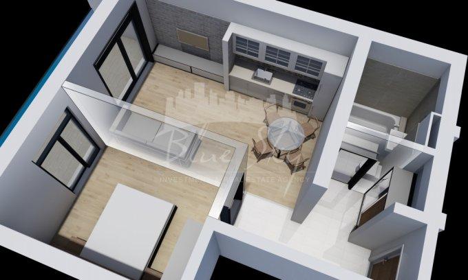 Apartament de vanzare direct de la agentie imobiliara, in Constanta, in zona Mamaia Nord, cu 52.500 euro negociabil. 1 grup sanitar, suprafata utila 59 mp.