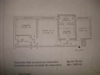 vanzare apartament cu 3 camere, semidecomandat, in zona Inel 2, orasul Constanta