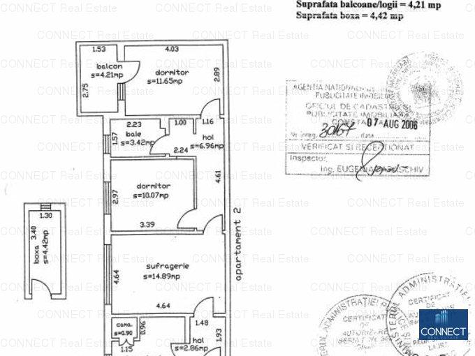 vanzare apartament semidecomandat, zona Delfinariu, orasul Constanta, suprafata utila 61 mp