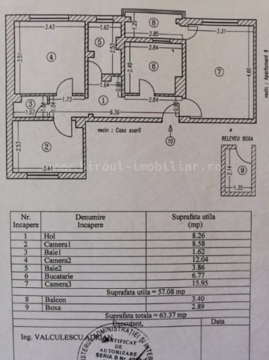 vanzare Duplex Cumpana cu 3 camere, cu 1 grup sanitar, suprafata utila 57 mp. Pret: 45.000 euro. Incalzire: Centrala proprie a locuintei.