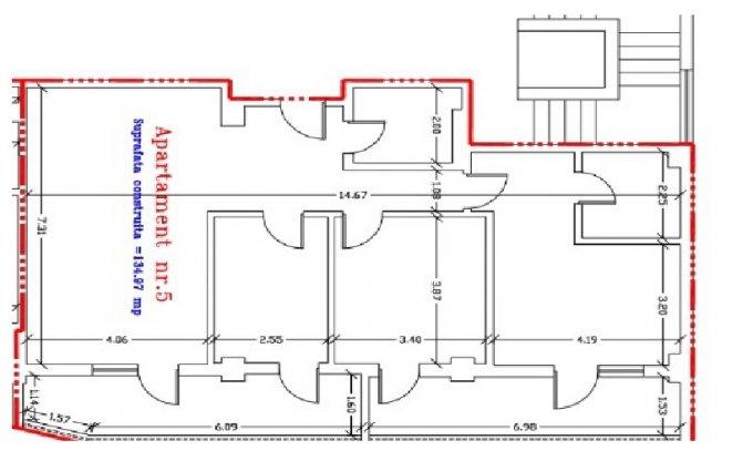 Apartament vanzare Tomis 3 cu 3 camere, etajul 3 / 5, 2 grupuri sanitare, cu suprafata de 117.39 mp. Constanta, zona Tomis 3.