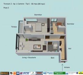 Apartament cu 3 camere de vanzare, confort Lux, zona Campus,  Constanta