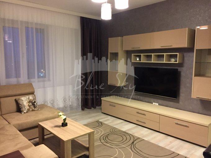 Apartament inchiriere Constanta 3 camere, suprafata utila 92 mp, 2 grupuri sanitare. 600 euro negociabil. Etajul 9. Apartament Tomis Nord Constanta