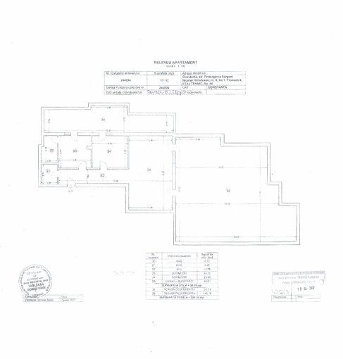 Apartament de vanzare in Constanta cu 3 camere, cu 2 grupuri sanitare, suprafata utila 28219 mp. Pret: 102.000 euro negociabil.