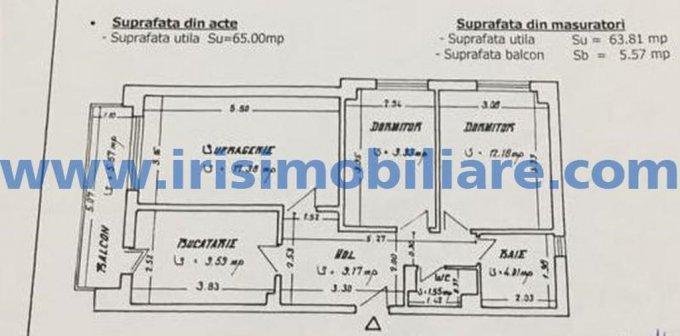 Apartament de vanzare in Constanta cu 3 camere, cu 1 grup sanitar, suprafata utila 75 mp. Pret: 78.000 euro.