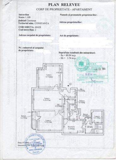 Constanta, zona Ultracentral, apartament cu 3 camere de vanzare