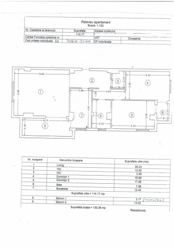 Apartament vanzare Tomis 3 cu 3 camere, etajul 4, 2 grupuri sanitare, cu suprafata de 145 mp. Constanta, zona Tomis 3.