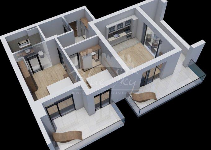 Apartament vanzare Mamaia Nord cu 3 camere, etajul 2, 2 grupuri sanitare, cu suprafata de 117 mp. Constanta, zona Mamaia Nord.