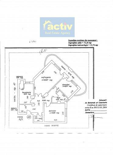 vanzare apartament decomandata, zona Gara, orasul Constanta, suprafata utila 73 mp