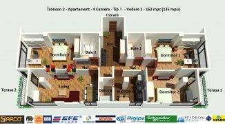 Apartament cu 4 camere de vanzare, confort Lux, zona Campus,  Constanta