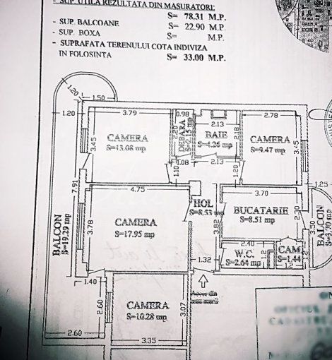 Apartament de vanzare in Constanta cu 4 camere, cu 2 grupuri sanitare, suprafata utila 101 mp. Pret: 83.000 euro negociabil.