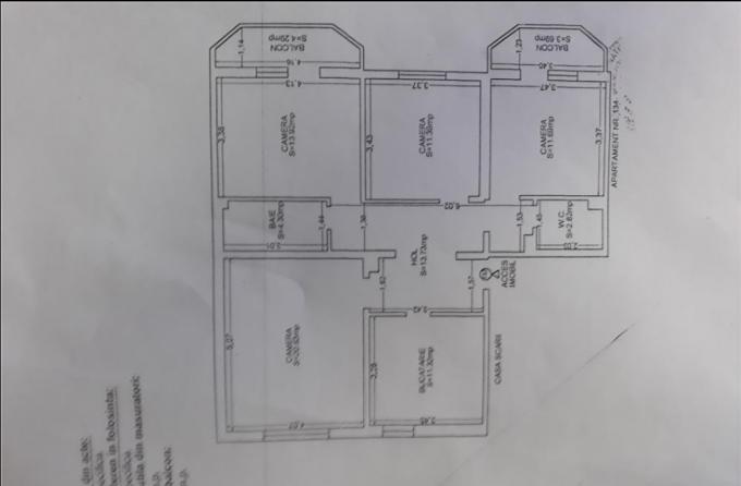 Apartament de vanzare direct de la agentie imobiliara, in Constanta, cu 86.000 euro negociabil. 2  balcoane, 2 grupuri sanitare, suprafata utila 98 mp.