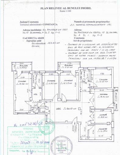 vanzare Apartament Constanta cu 7 camere, cu 2 grupuri sanitare, suprafata utila 140 mp. Pret: 230.000 euro negociabil. Incalzire: Incalzire prin termoficare. Racire: Aer conditionat.