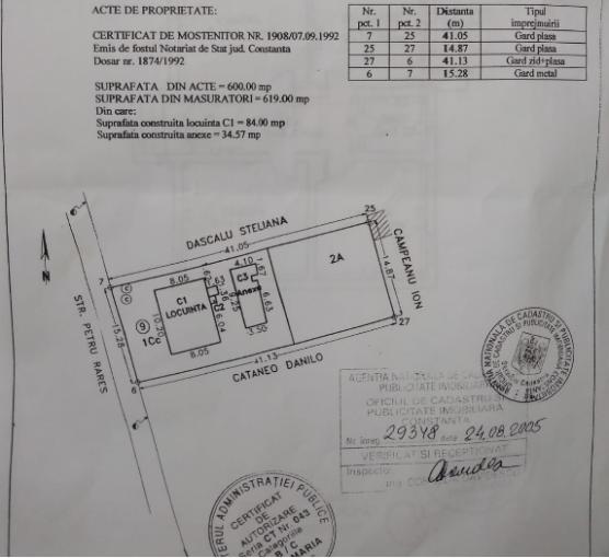 vanzare Casa Constanta cu 3 camere, 1 grup sanitar, avand suprafata utila 84 mp. Pret: 75.000 euro. Incalzire: Fara incalzire. agentie imobiliara vand Casa.