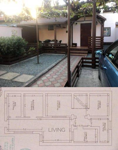 Km 5 Constanta casa cu 4 camere, 1 grup sanitar, cu suprafata utila de 150 mp, suprafata teren 210 mp si deschidere de 8 metri. In orasul Constanta Km 5.