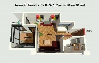 vanzare garsoniera decomandata, zona Campus, orasul Constanta, suprafata utila 36 mp