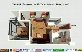 vanzare garsoniera, decomandata, in zona Campus, orasul Constanta