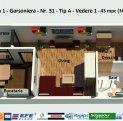 Garsoniera - 43 mpc - Decomandata - Direct Dezvoltator - Campus Universitar -Lac Siutghiol