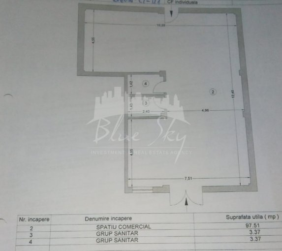 Spatiu comercial de vanzare direct de la agentie imobiliara, in Constanta, zona Inel 2, cu 90.000 euro negociabil. 1 grup sanitar, suprafata utila 120 mp.