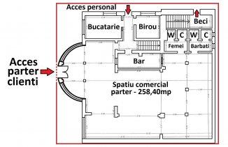 vanzare Spatiu comercial 565 mp cu 6 incaperi, 5 grupuri sanitare, zona Centru, orasul Ovidiu