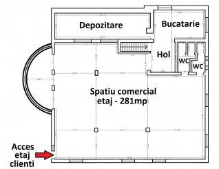 vanzare de la agentie imobiliara, Spatiu comercial cu 6 incaperi, in zona Centru, orasul Ovidiu