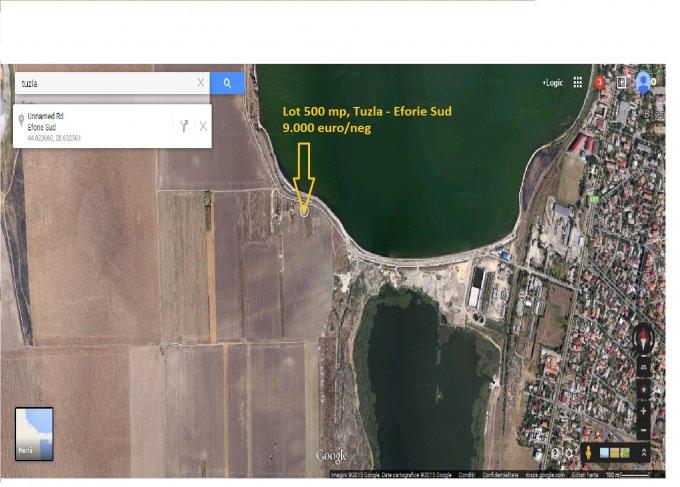 Teren agricol extravilan de vanzare in Tuzla. Suprafata terenului 500 metri patrati, deschidere 19.47 metri. Pret: 9.000 euro negociabil. Destinatie: Rezidenta, Vacanta, Ferma, Agricultura. Utilitati: Curent electric 220V.