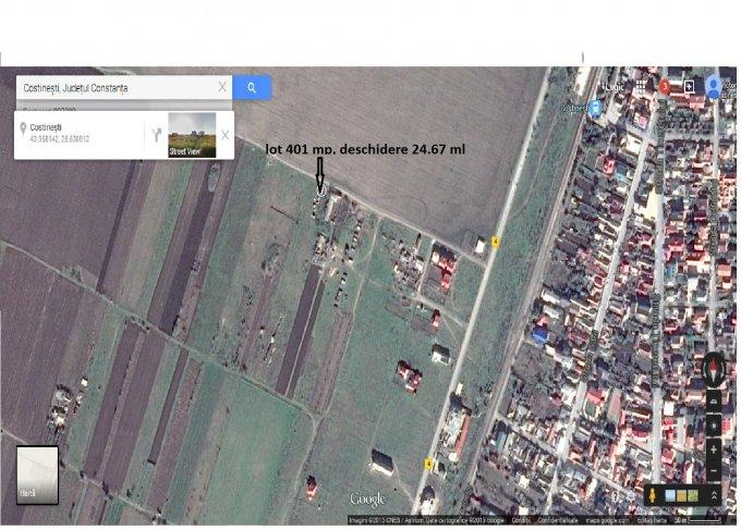 Teren agricol extravilan 401 mp, deschidere 24.67 metri. Pret 9.000 euro negociabil. agentie imobiliara vand teren agricol. Destinatie: Rezidenta, Vacanta. Utilitati: Curent electric 220V. Clasa fertilitate: 0.