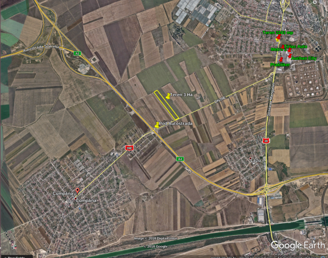 Teren agricol extravilan 30000 mp, deschidere 37 metri. Pret 450.000 euro. agentie imobiliara vand teren agricol. Utilitati: Gaze, Curent electric 220V, Apa.