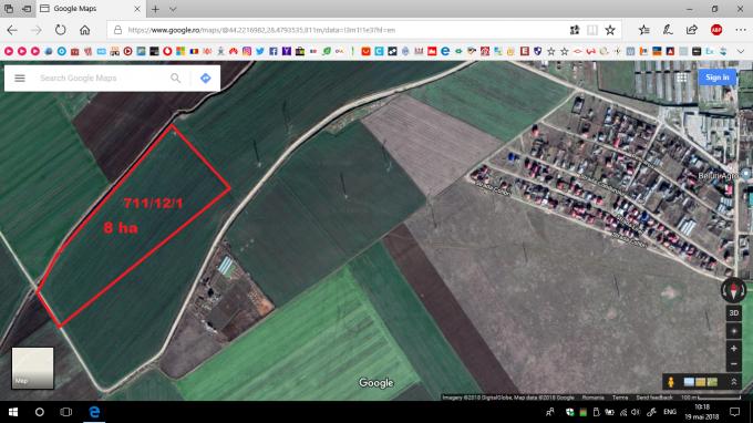 teren agricol vanzare de 80000 metri patrati, extravilan. 80000 euro. Teren Poiana  Constanta