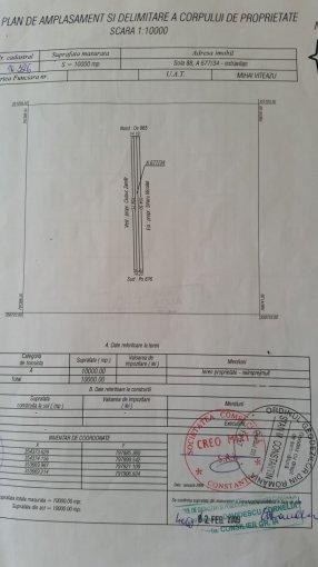 Teren agricol extravilan de vanzare in Sinoie. Suprafata terenului 10000 metri patrati, deschidere 14.2 metri. Pret: 10.000 euro negociabil. Destinatie: Vacanta, (mini) Hotel / Pensiune, Agricultura.