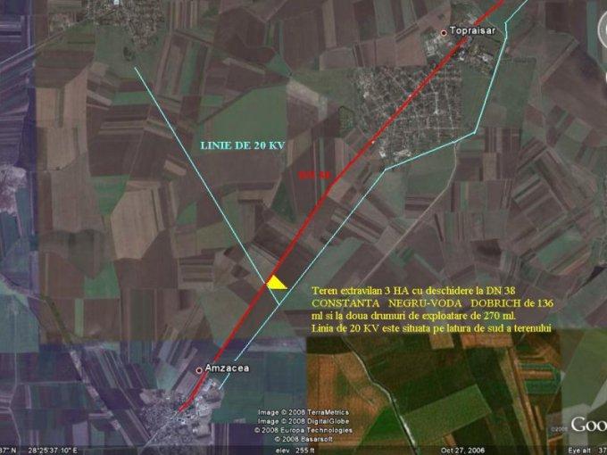 30000 mp teren agricol de vanzare, in  Constanta Topraisar