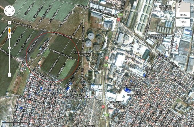 vanzare teren intravilan de la agentie imobiliara cu suprafata de 628 mp, in zona Bratianu, orasul Constanta