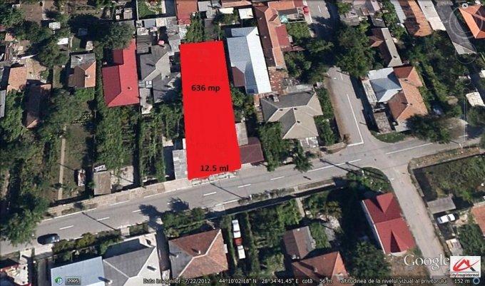 Teren intravilan de vanzare in Constanta, zona Palas. Suprafata terenului 636 metri patrati, deschidere 12.5 metri. Pret: 50.000 euro. Destinatie: Rezidenta, Comercial.