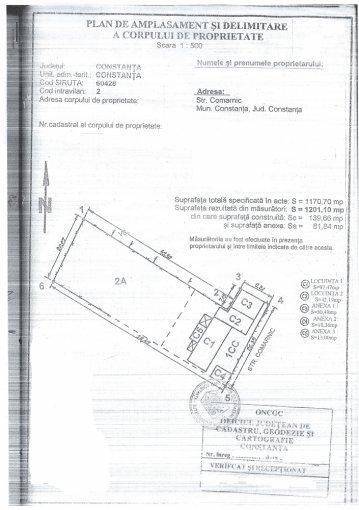 Teren intravilan de vanzare in Constanta, zona Km 4-5. Suprafata terenului 1200 metri patrati, deschidere 267 metri. Pret: 145.000 euro negociabil.