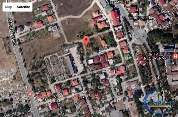 de vanzare teren intravilan cu suprafata de 500 mp si deschidere de 20 metri. In orasul Constanta.